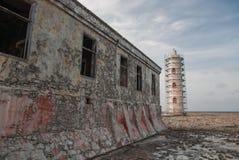 Old Lighthouse carribean beach Royalty Free Stock Photos