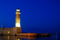 Old lighthouse in city of Rethymno Stock Photos