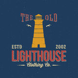 The Old Lighthouse Clothing Co. Nautical Abstract Royalty Free Stock Image