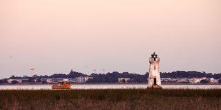 Old lighthouse at the Cockspur island Royalty Free Stock Images