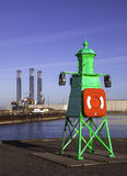 Lighthouse in Esbjerg Harbor, Denmark Royalty Free Stock Photo