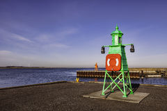 Lighthouse in Esbjerg Harbor, Denmark Stock Photo