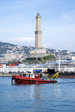 The old Lighthouse of Genoa Royalty Free Stock Photo