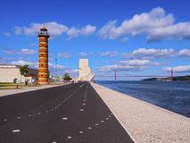 Old Lighthouse In Belem Stock Photo