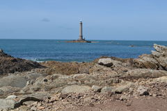 Old lighthouse near the Atlantic coast of Normandy Royalty Free Stock Photos