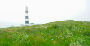 Old lighthouse in Ouessant, Brittany, France Royalty Free Stock Photography