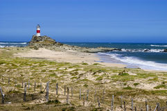 Old lighthouse. Old out of use lighthouse, built on Isla Mocha, the Bio Bio region, Chile Royalty Free Stock Photography