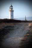 Old lighthouse in Paphos city, Cyprus Stock Images