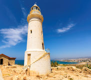 The old lighthouse in Paphos, Cyprus Stock Photos