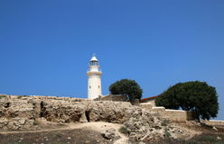 The old  lighthouse . Paphos, Cyprus. Stock Photo