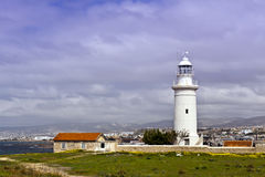 Old Lighthouse at Paphos, Cyprus. Royalty Free Stock Photo