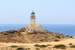 Old lighthouse on peninsula Prasonisi in Rhodes Stock Photography