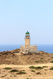 Old lighthouse on peninsula Prasonisi in Rhodes Stock Image