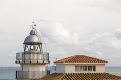 Old lighthouse in Peniscola, Spain Royalty Free Stock Image