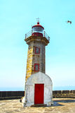 Old lighthouse in Porto, Portugal Stock Photography