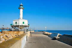 An old lighthouse restored, in Tarragona, Spain Stock Photo