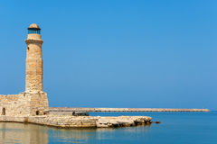 Old lighthouse. Rethymno, Crete, Greece Stock Photos