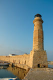 Old Lighthouse. Rethymnon, Crete, Greece Royalty Free Stock Photography