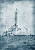 Old Lighthouse - Retro style artistic toned and Royalty Free Stock Images