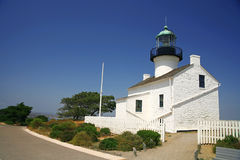 Old lighthouse at San Diego Royalty Free Stock Photo