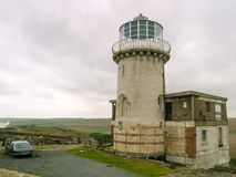 Beachy head old lighthouse in UK royalty free stock photos