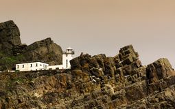 Old lighthouse in Skellig Michael, Ireland Royalty Free Stock Photo