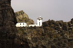 Old lighthouse in Skellig Michael, Ireland Stock Photos