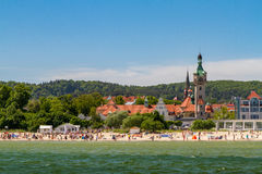 Old lighthouse in Sopot, Poland Royalty Free Stock Photos