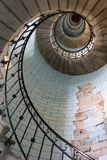 Old lighthouse stairs stock images