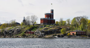 Old lighthouse, Stockholm, Sweden, Scandinavia, Europe Royalty Free Stock Photos