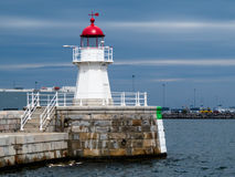 Old lighthouse, Sweden. Old Lighthouse in twilight, Malmo, Sweden Stock Photos