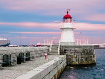 Old lighthouse, Sweden. Old Lighthouse in twilight, Malmo, Sweden Stock Image