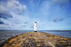 An old lighthouse in Swinoujscie, Poland Stock Image