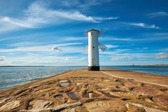 Old lighthouse in Swinoujscie, Poland Royalty Free Stock Photos