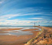 Old lighthouse in Swinoujscie, a port in Poland on the Baltic Se Royalty Free Stock Images