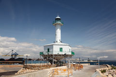 Old lighthouse in Tarragona, Spain Royalty Free Stock Photo