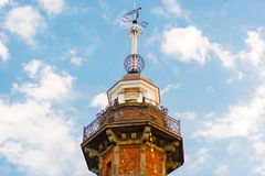 Old lighthouse with time ball at the top in Gdansk, Poland. Stock Images
