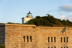 Old Lighthouse Tower On Fort Taber Stock Photos
