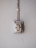 Old lighting switch on the wall Royalty Free Stock Photography