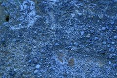 Old like Mars ultra blue texture, stone wall background or rock surface - good for web site or mobile devices. Old like ultra blue Mars texture, stone wall royalty free stock photography