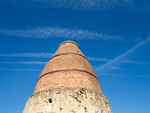 Old lime kiln. Detail of the chimney of an old lime kiln. Quijorna. Spain Stock Images