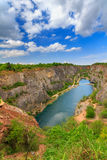 Old lime quarry, Big America (Velka Amerika) near Prague, Czech Republic Stock Images
