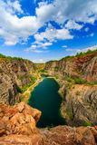 Old lime quarry, Big America (Velka Amerika) near Prague, Czech Republic Royalty Free Stock Images