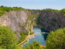 Old lime quarry called Big Amerika Stock Photos