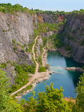 Old lime quarry called Big Amerika Royalty Free Stock Images