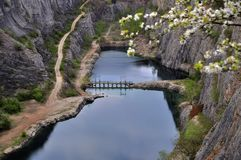 Old lime quarry called Big Amerika Royalty Free Stock Photo