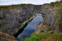 Old lime quarry called Big Amerika Stock Image