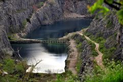 Old lime quarry called Big Amerika Stock Photo