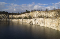 Old limestone pit filled with water Royalty Free Stock Photos