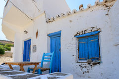 Old limewashed stone house Kythnos Royalty Free Stock Images